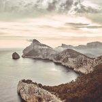 POhľad na ostrov Malorka z leteckej perspektívy