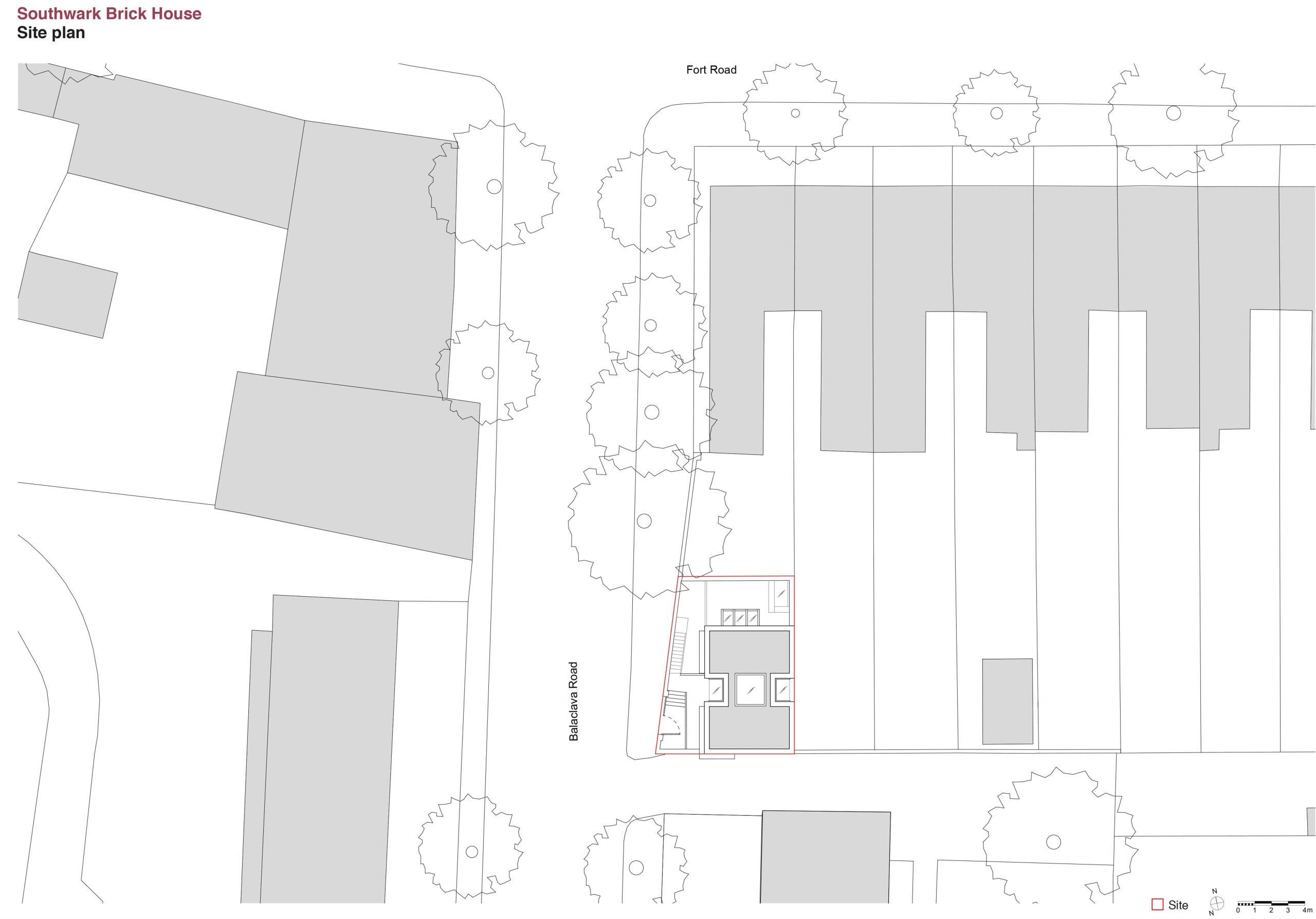 1 Southwark Brick House site plan