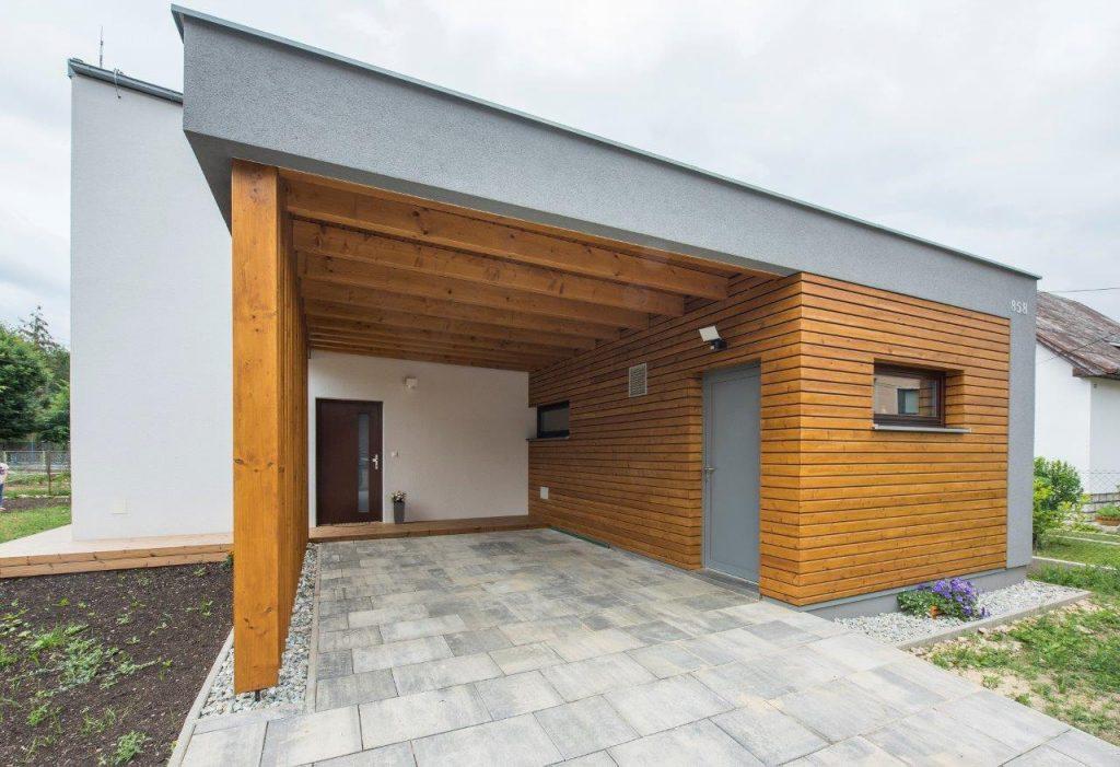 Moderná drevostavba v dedinke s krásnou panorámou