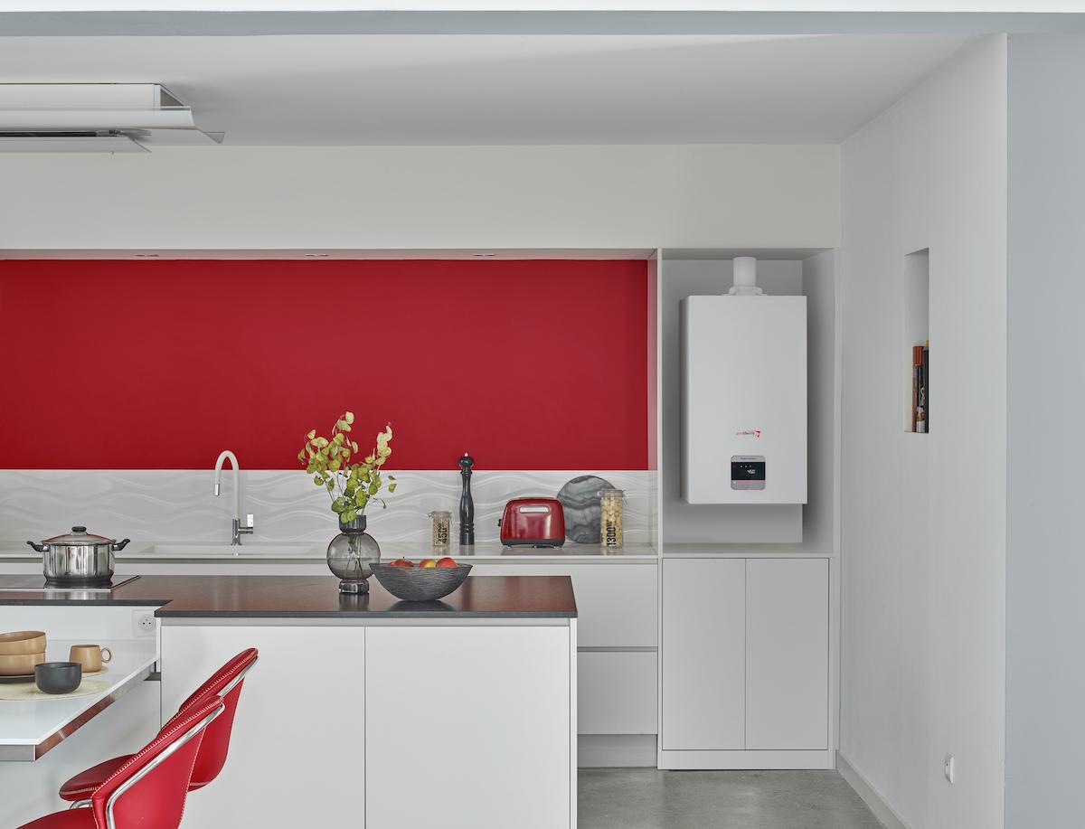 Kondenzačný kotol v kuchyni