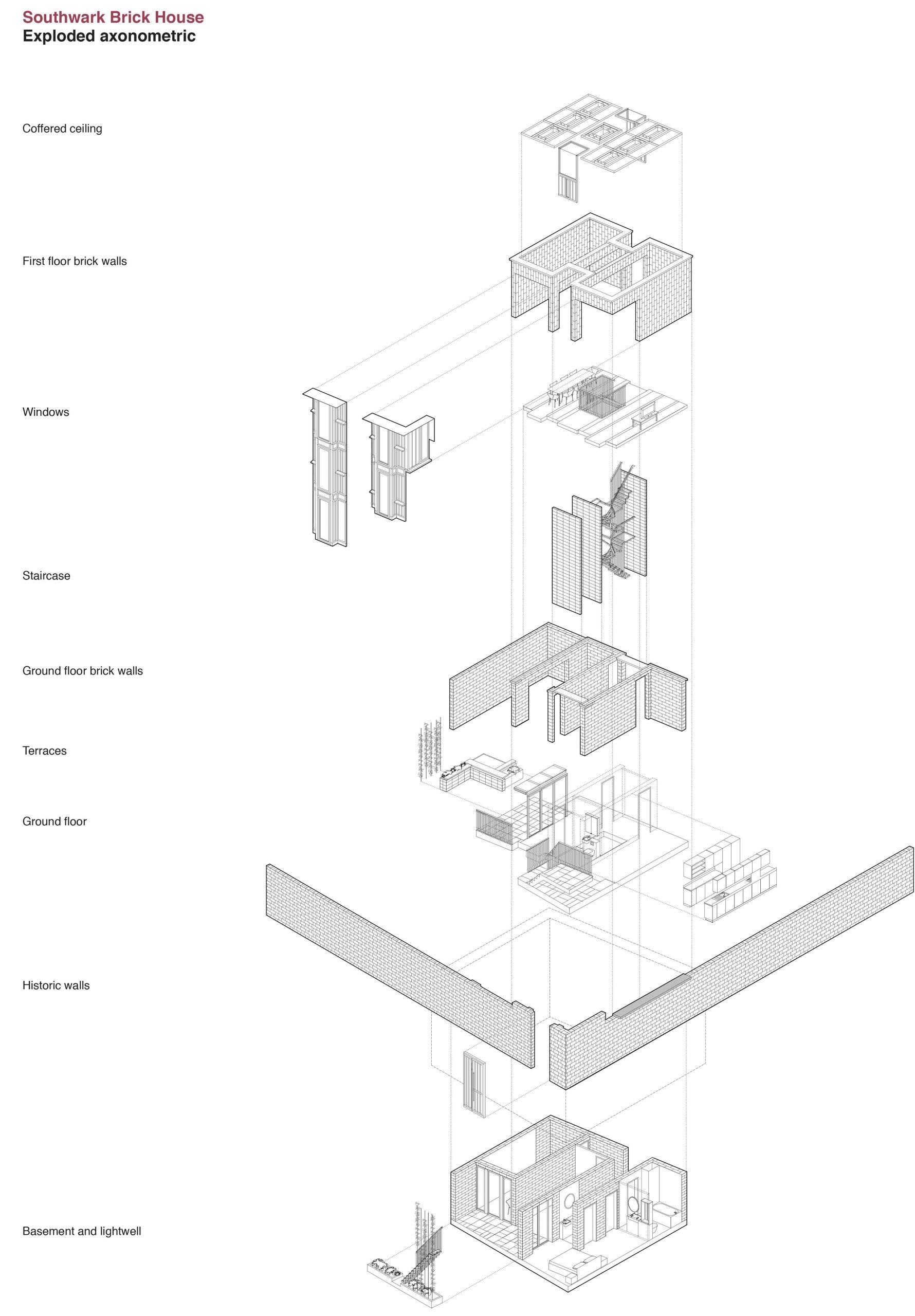 5 Southwark Brick House axometric