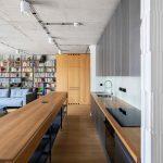 Kuchyňa s jedálňou a obývačkou v industriálnom štýle
