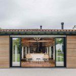 Otvorená fasáda domu do záhrady