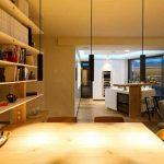 Jedáleň s výhľadom na kuchyňu
