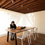 Sedenie v pavilóne s variabilnými roletami