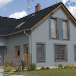 Rodinný dom so šedou fasádou
