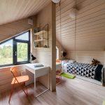 Detská izba pre dvoch v podkroví stodoly