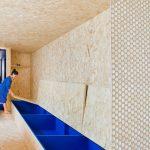 Modré úložné priestory v drevenom mikrobite