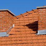 Šikmá strecha s dvoma komínmi