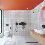 Graficky veselá koupelna