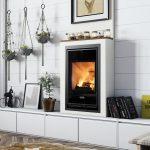 Kachlová piecka na drevo v obývačke typ X 50