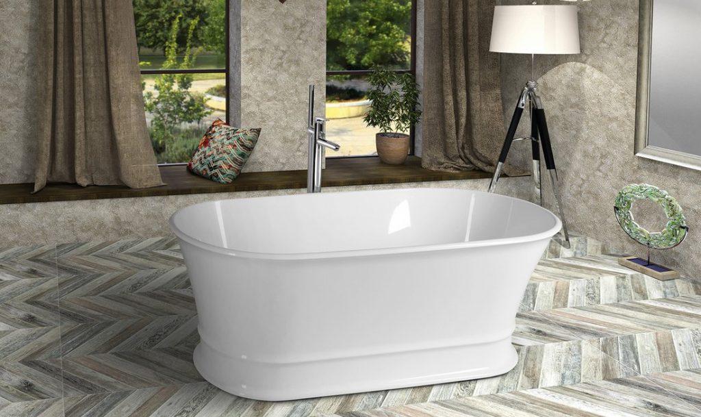 Voľne stojace vane ľahko dodajú kúpeľni luxus