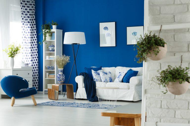 Čo všetko dokáže modrá farba v interiéri?